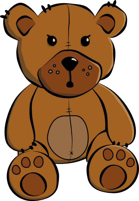 Clipart bear muscular. From behind the scope