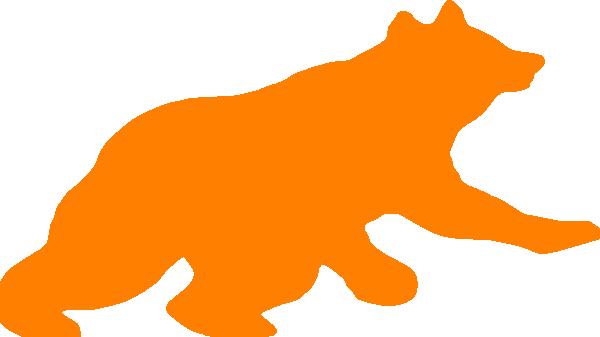 Clip art at clker. Clipart bear orange