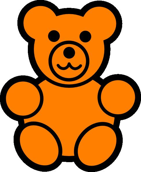 Clipart bear orange. Teddy