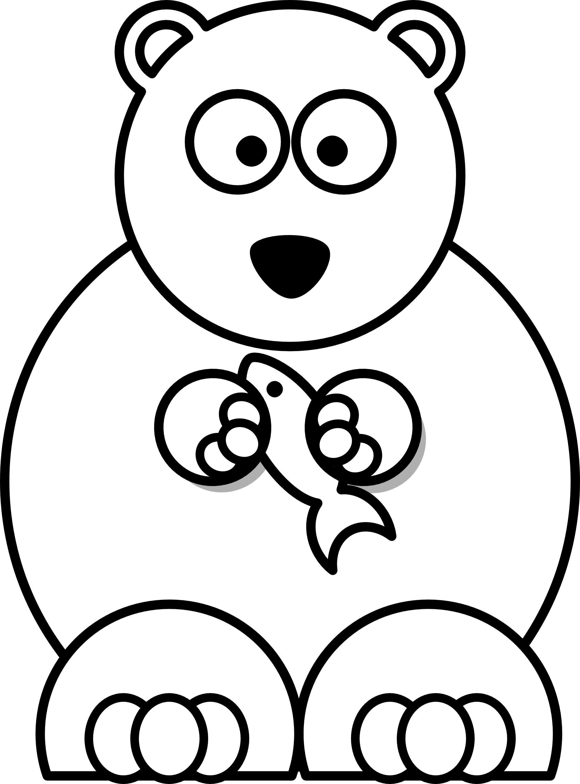 Teddy and white . Head clipart black bear