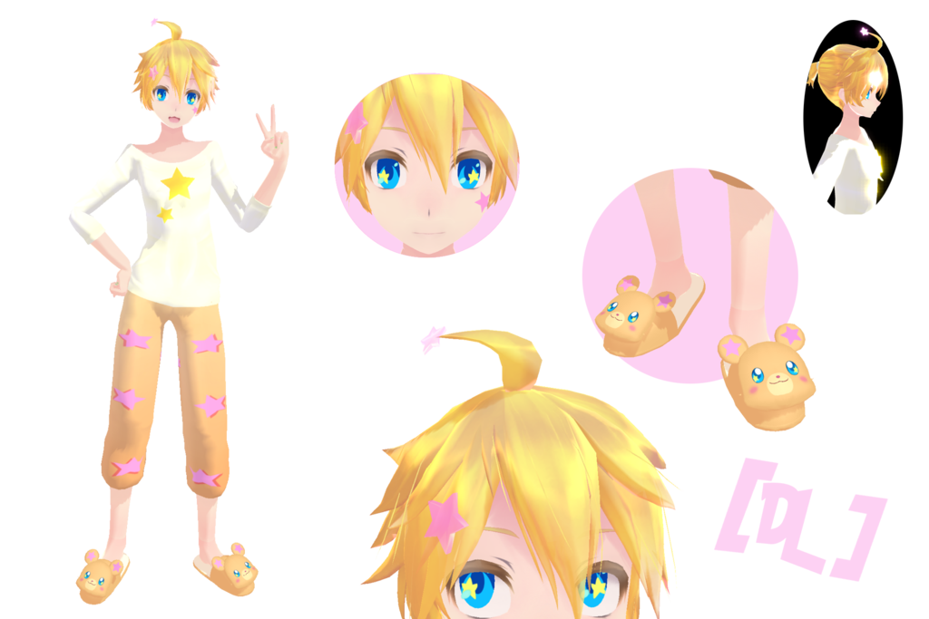 Mmd tda kawaii len. Pajamas clipart pajama bottom