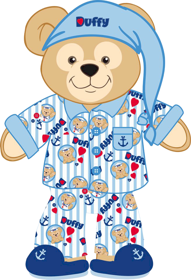 Pajamas clipart striped pajamas. Pajama duffy the bear