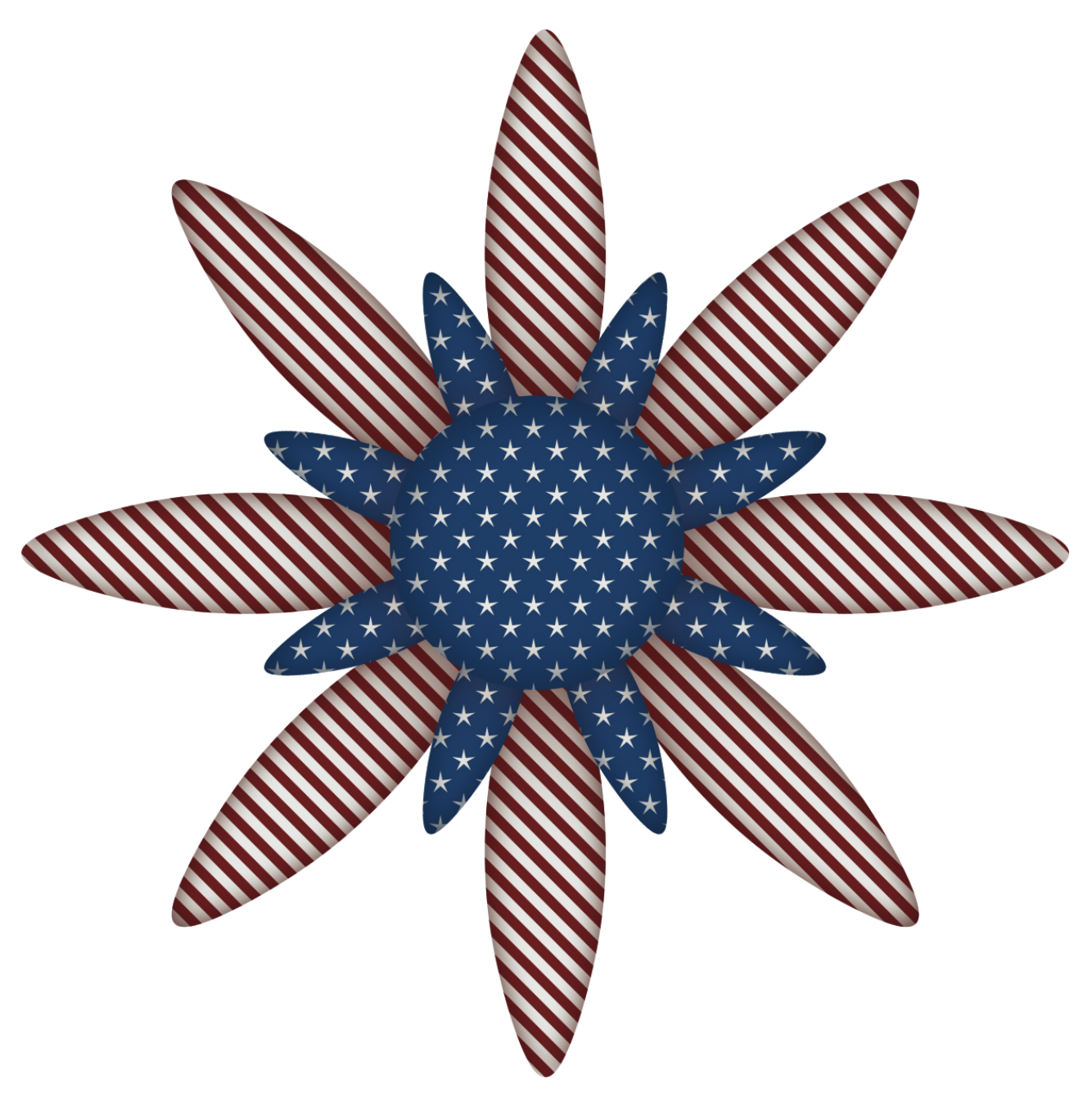 Usa flag flower decoration. Clipart bear patriotic