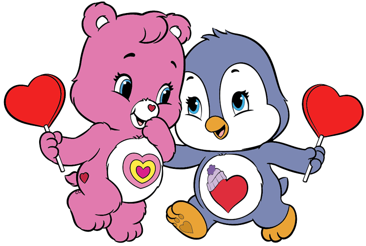 Heart clipart penguin. Care bears and cousins
