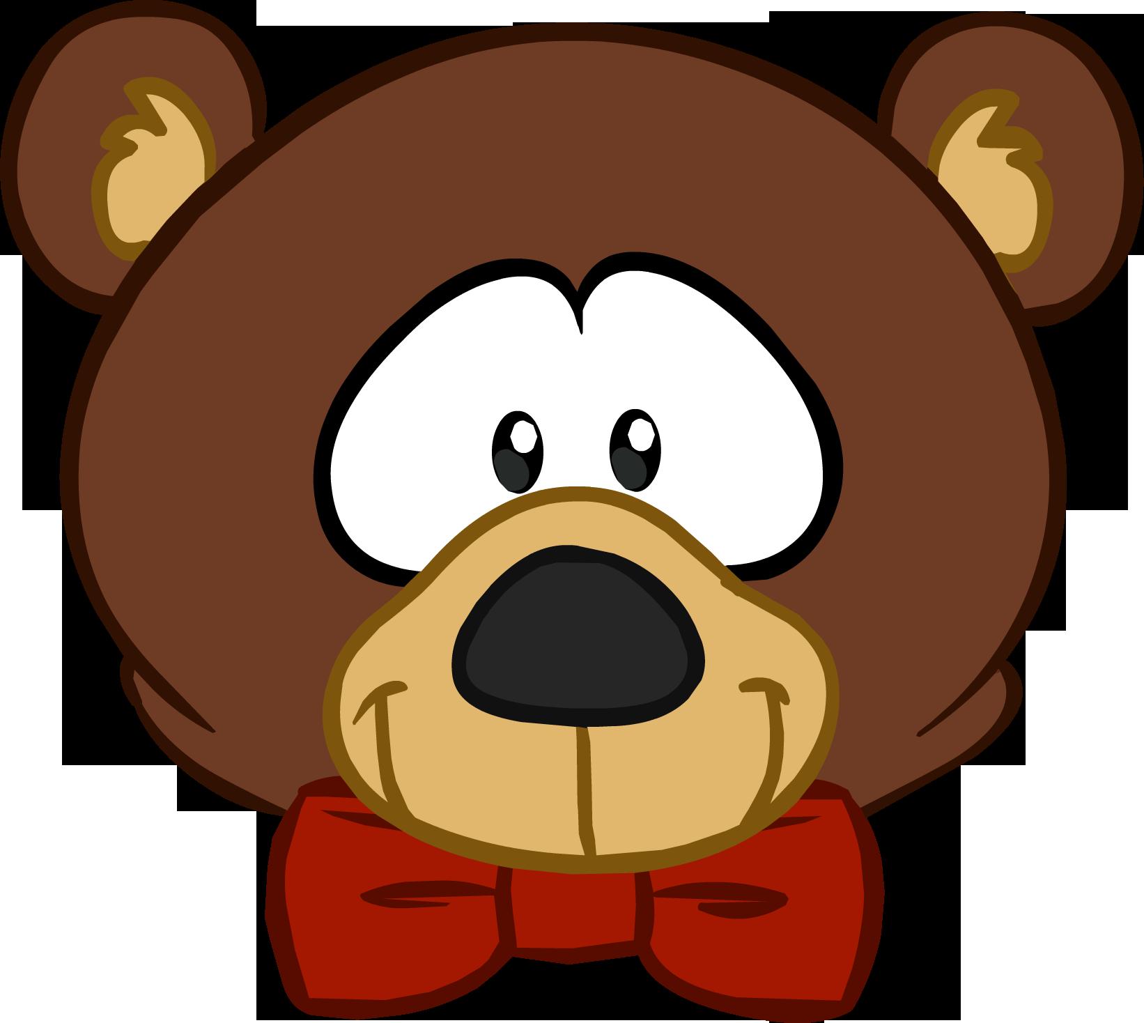 Clipart bear penguin. Teddy head club wiki