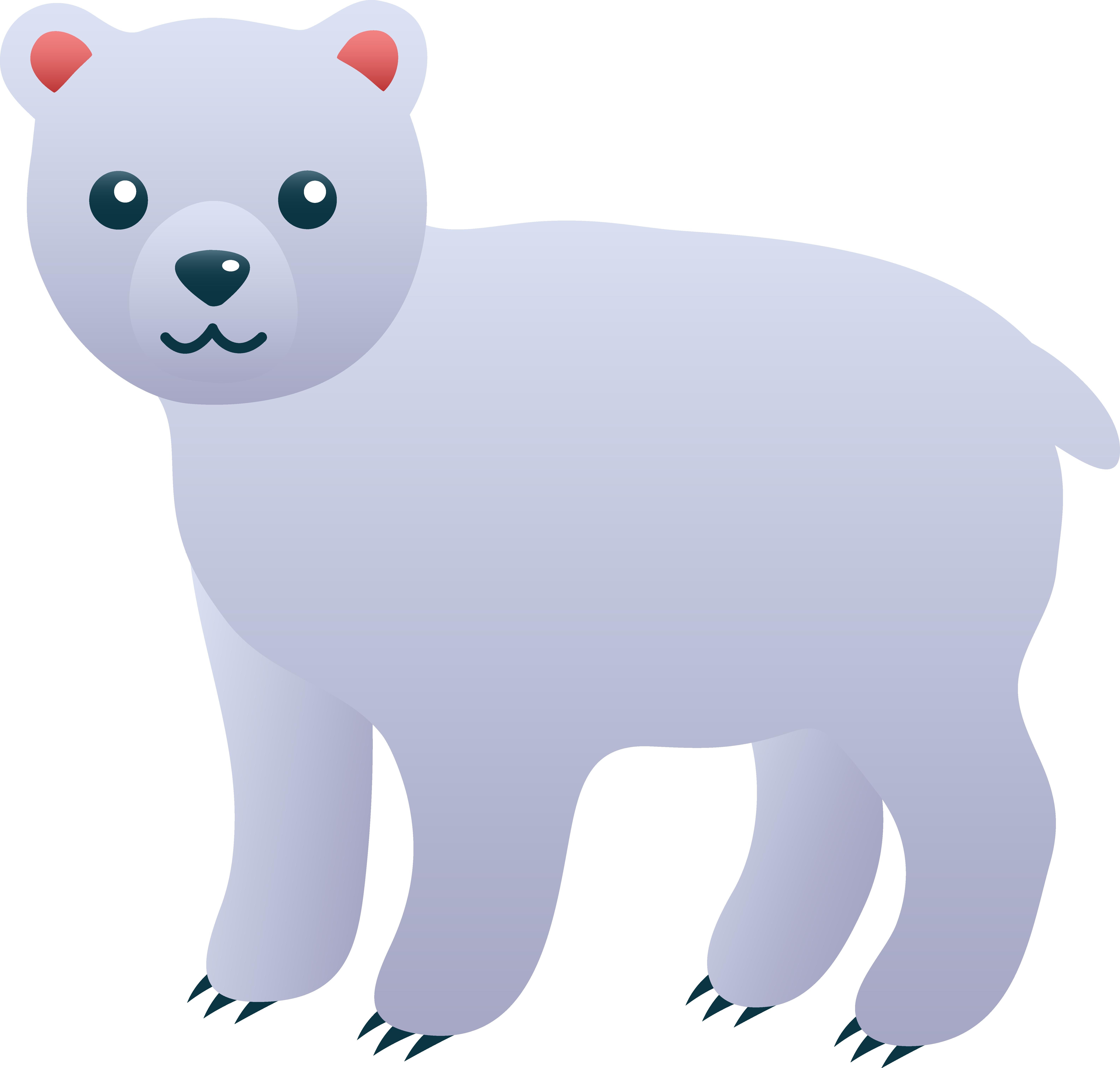 Cute clip art free. Clipart bear polar bear