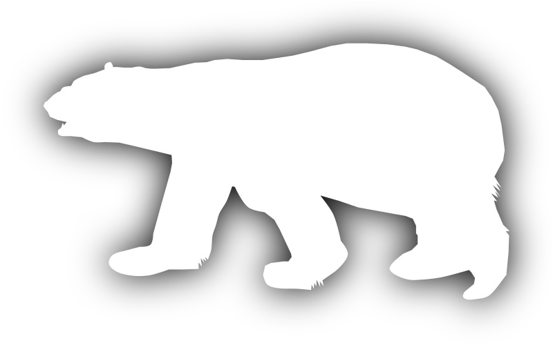 Fishing clipart polar bear. Silhouette at getdrawings com