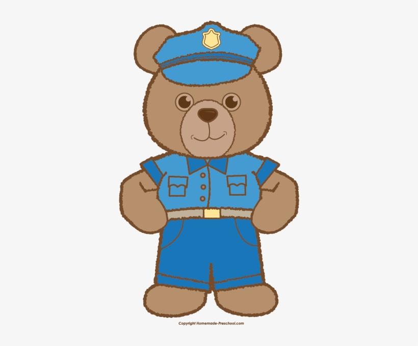 clipart bear police