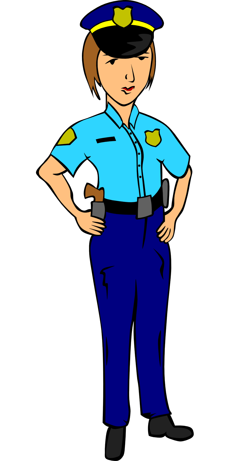 hats clipart police man