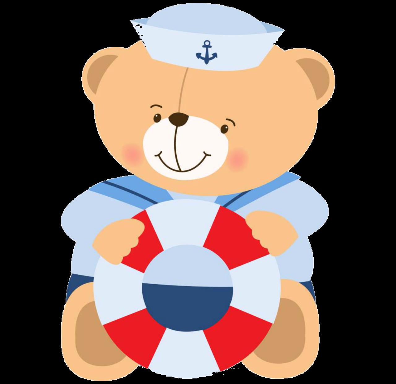 Sailor bear pretty png. Shell clipart baptism