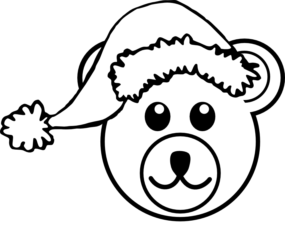 Teddy and white panda. Head clipart black bear