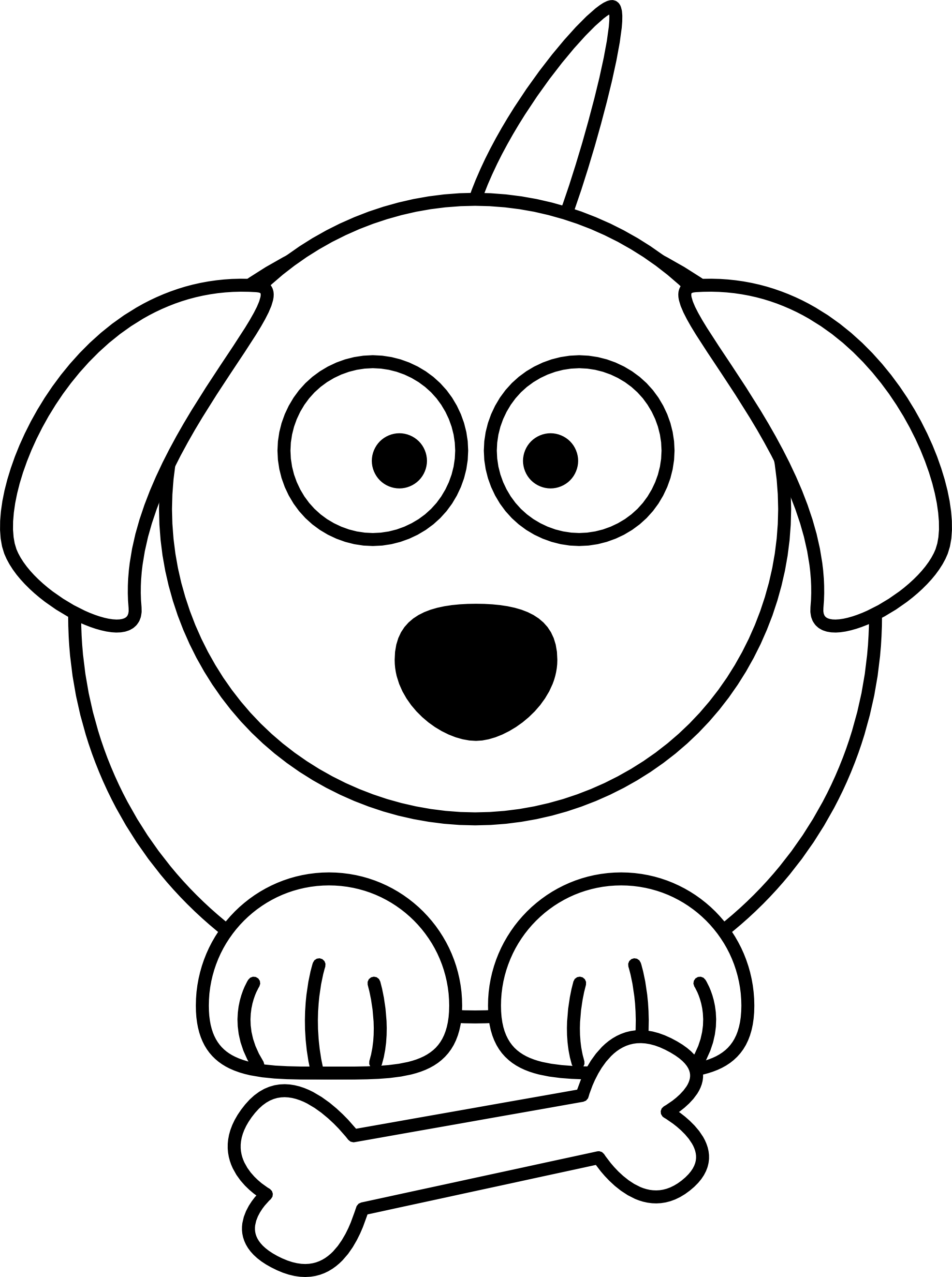 Dog clipart easy. Bear simple drawing at