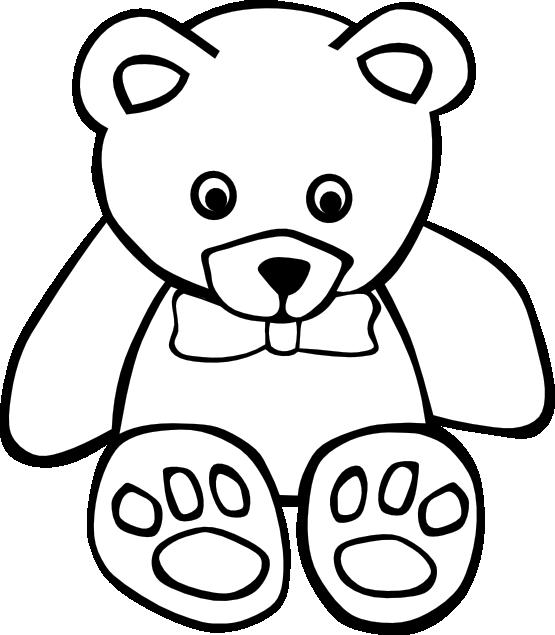 Simple teddy bear black. Scarecrow clipart strawman