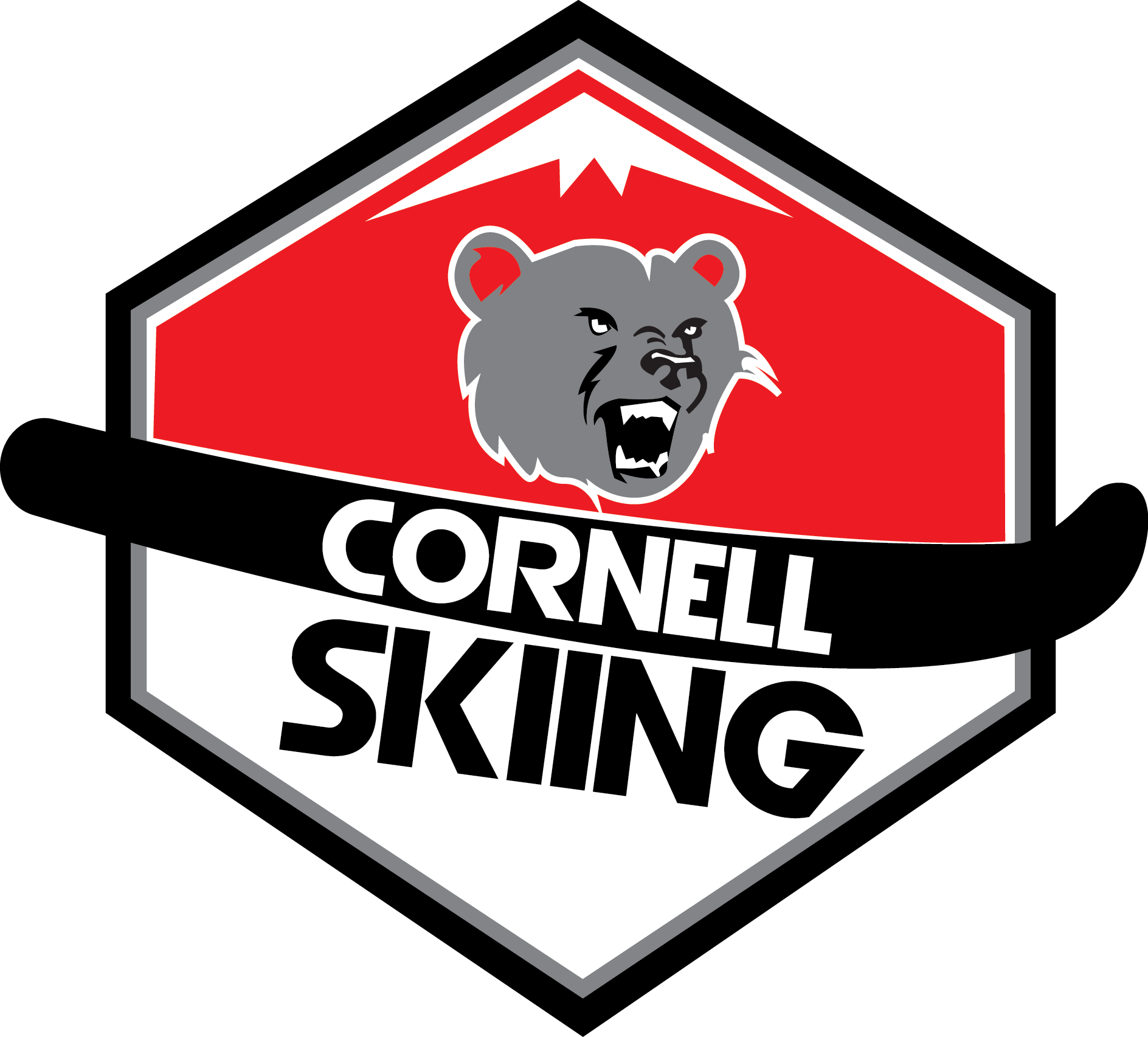 Clipart bear skiing. Cornell alpine about