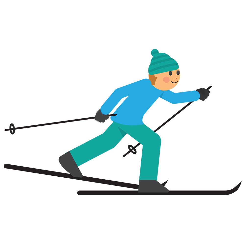 Clipart bear skiing. Cross country thisisfinland crosscountry