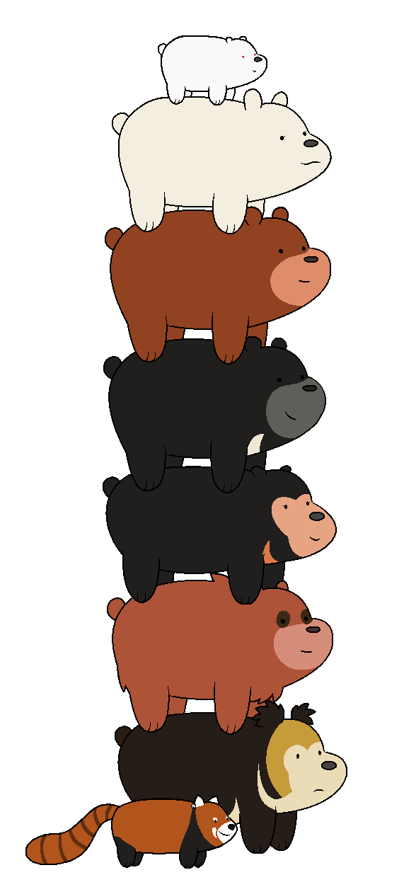 We bare bears oc. Clipart bear spirit bear
