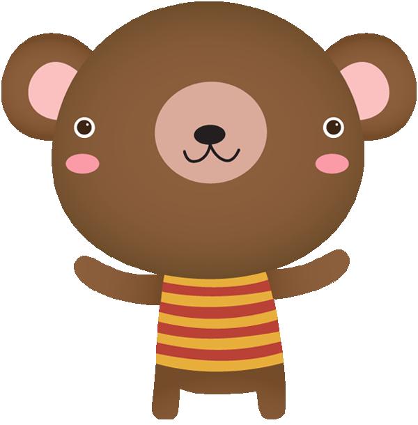 Clip art portfolio categories. Clipart bear standing