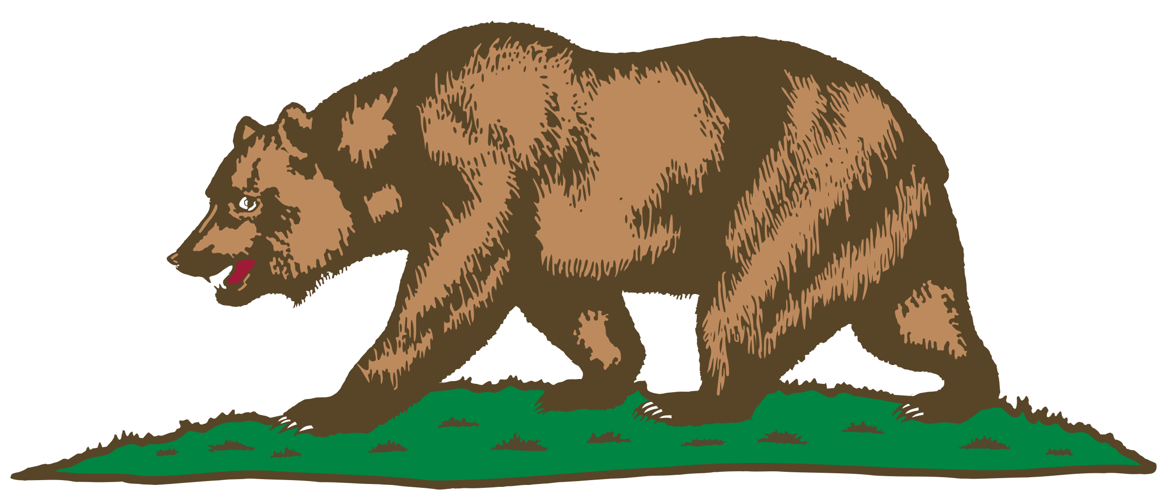 Clipart bear standing.  collection of california