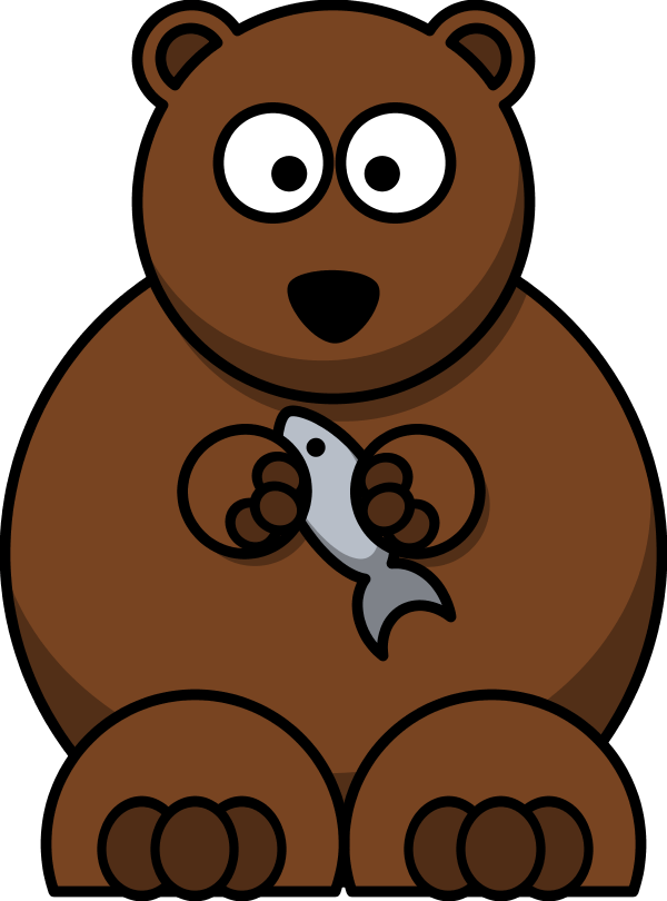 Clipart bear standing. Free comic pictures download