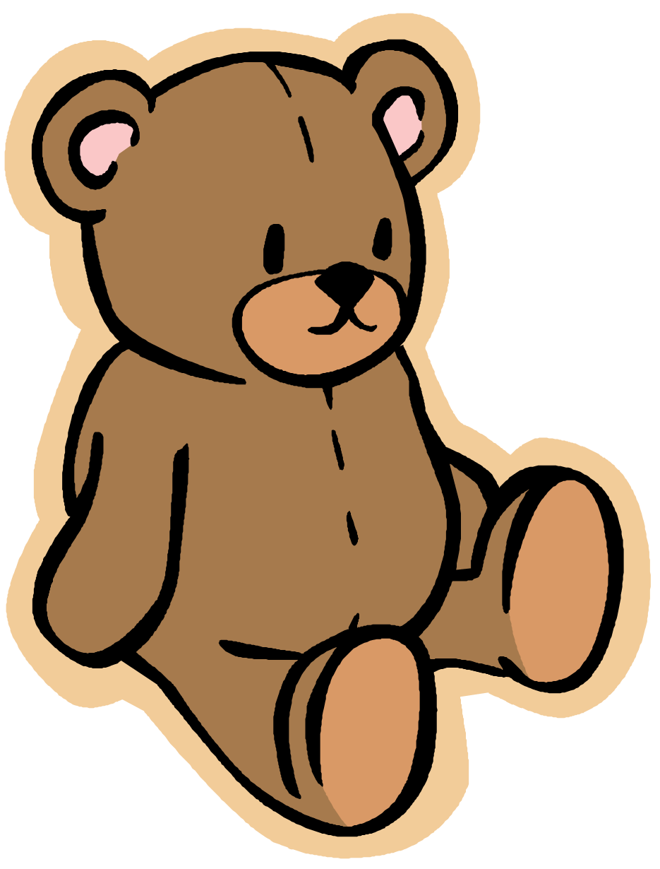 Brown cute baby free. Clipart bear standing