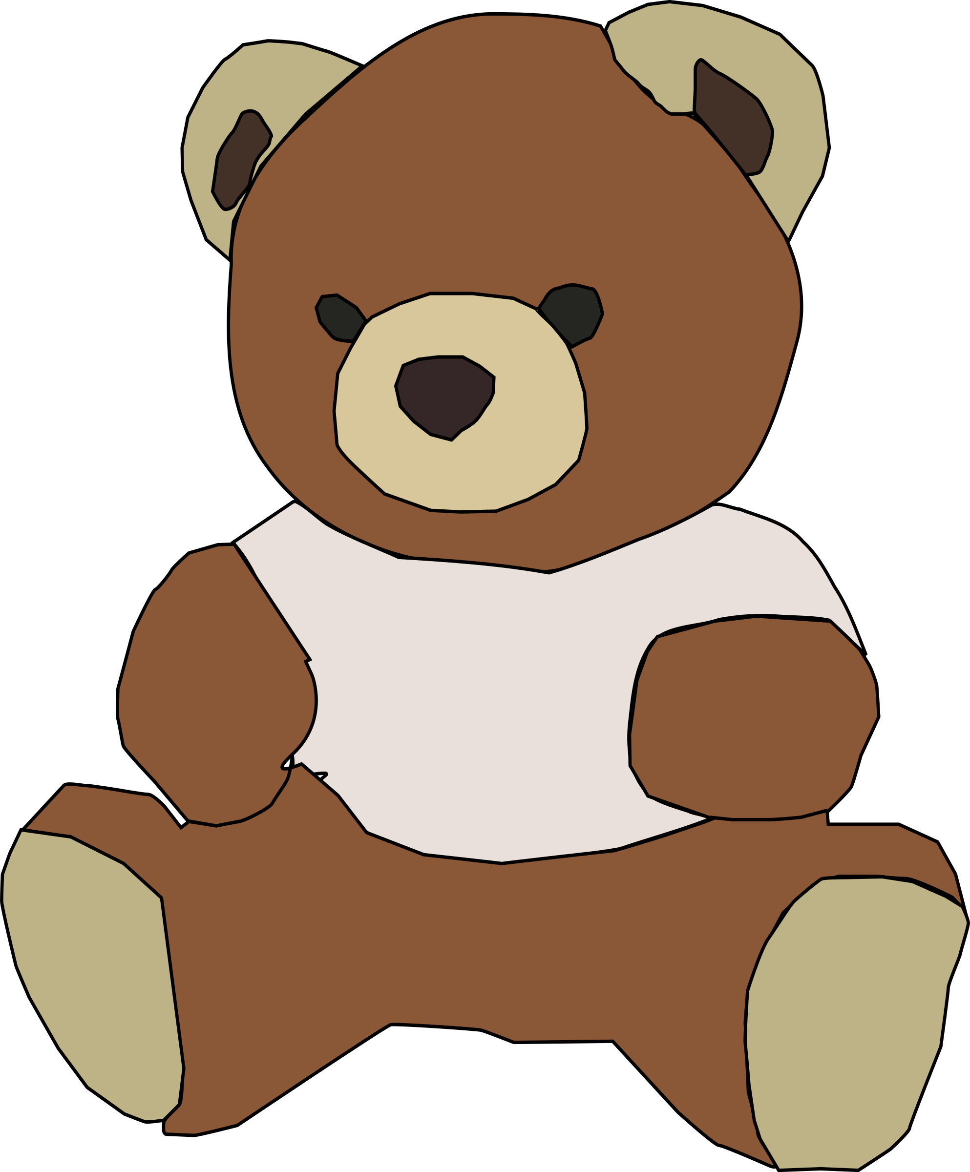 Teddy big pencil and. Clipart bear standing
