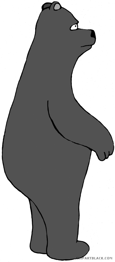 Clipart bear standing. Clipartblack com animal free