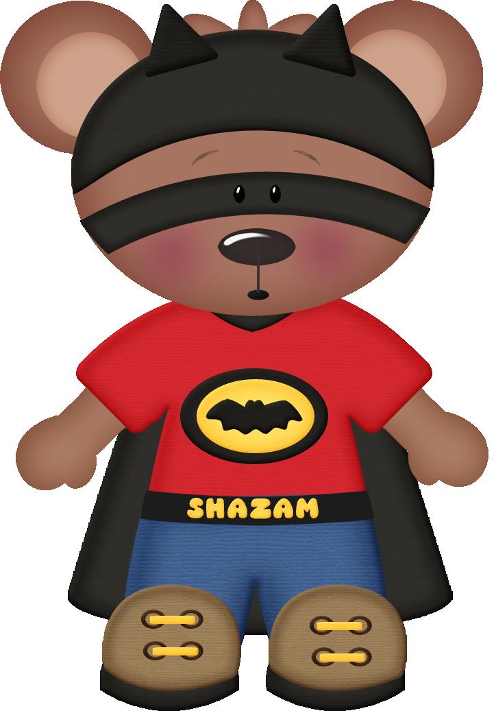 Pet clipart superhero. Shazam bear cute clip