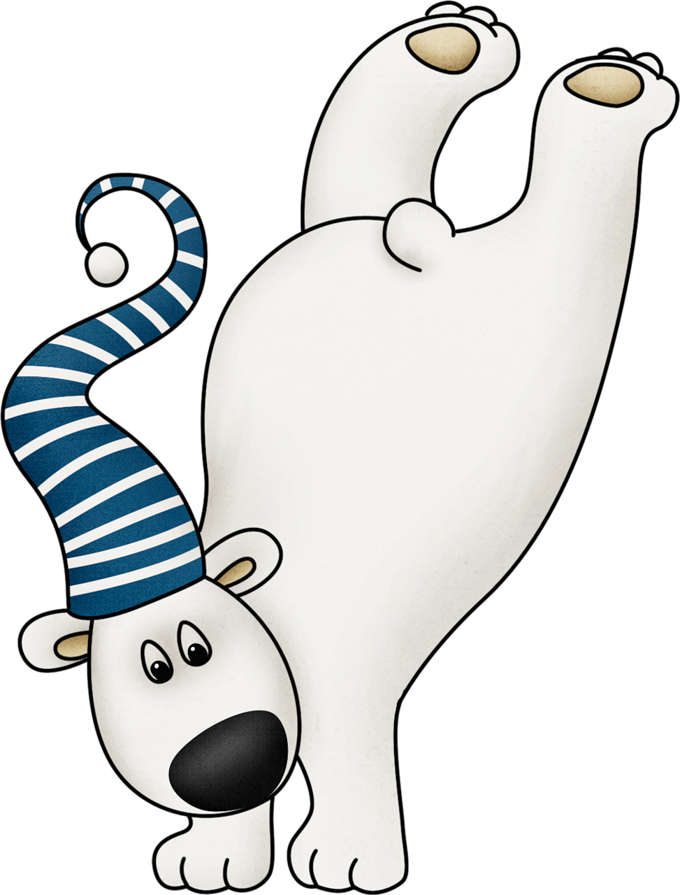 Cute winter polar bear. Mittens clipart string clipart