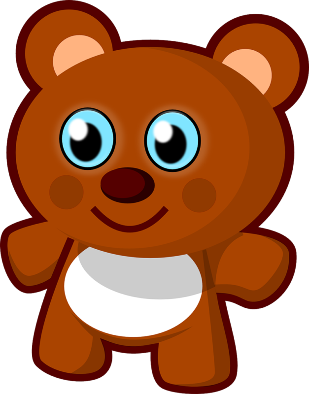 Hamster clipart brown teddy bear. Free black and white