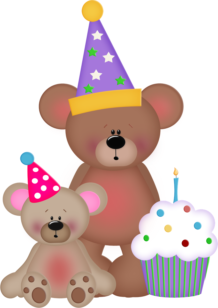 Cupcake teddy pencil and. Clipart bear thanksgiving