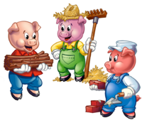 Bear the three little