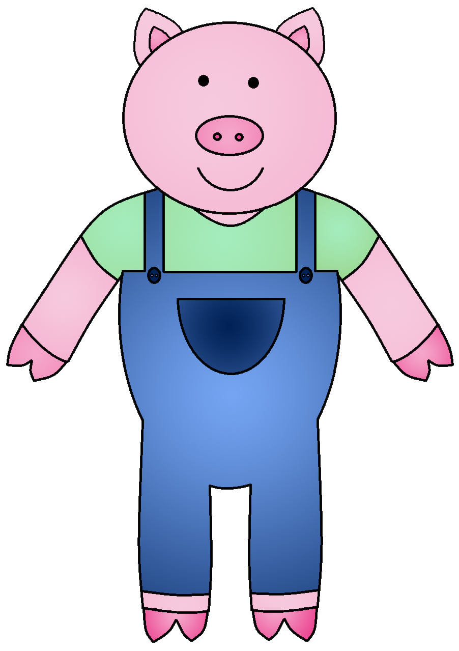 Kiss clipart pig. The three little pigs