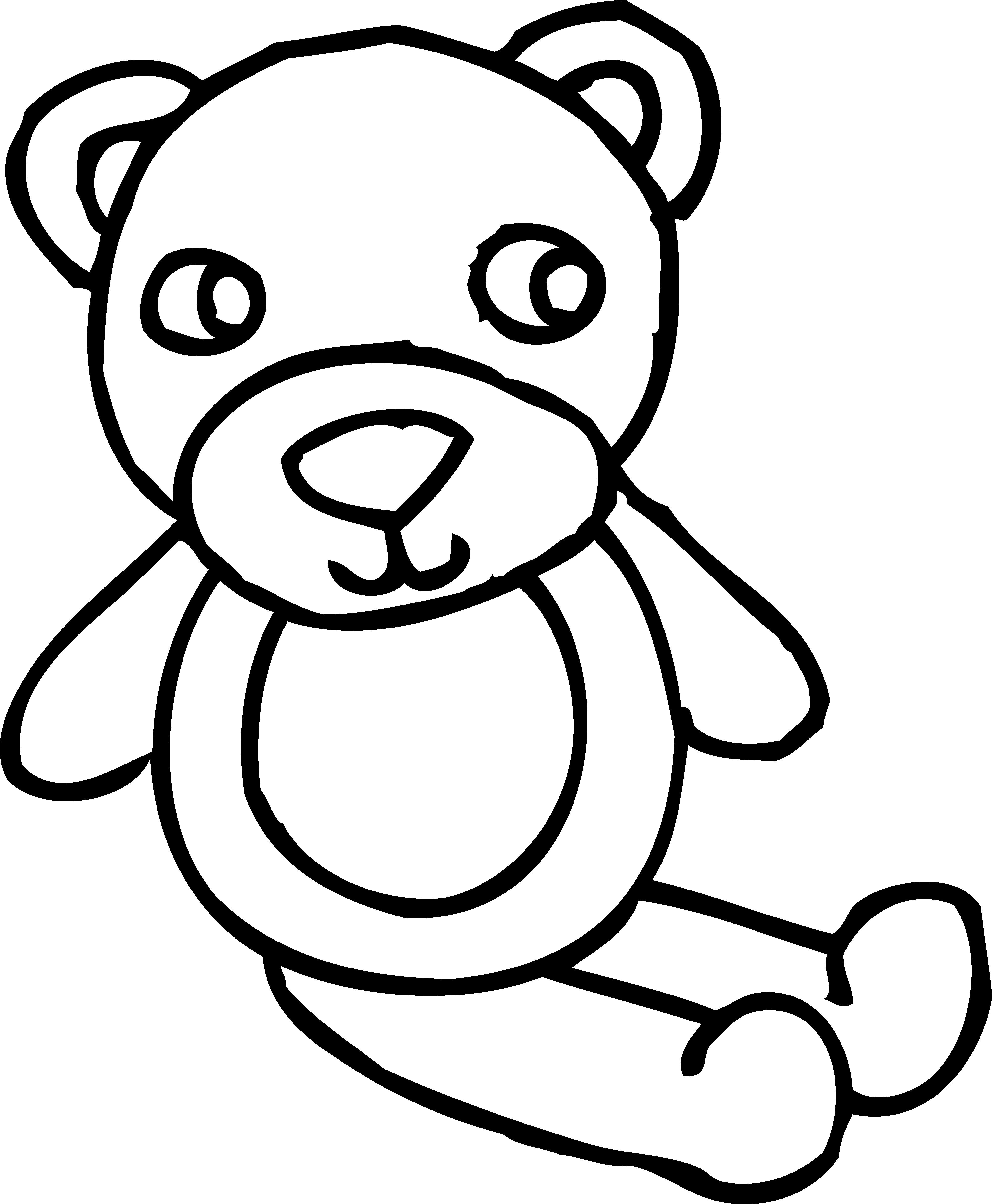 Teddy bear toy coloring. Moses clipart outline