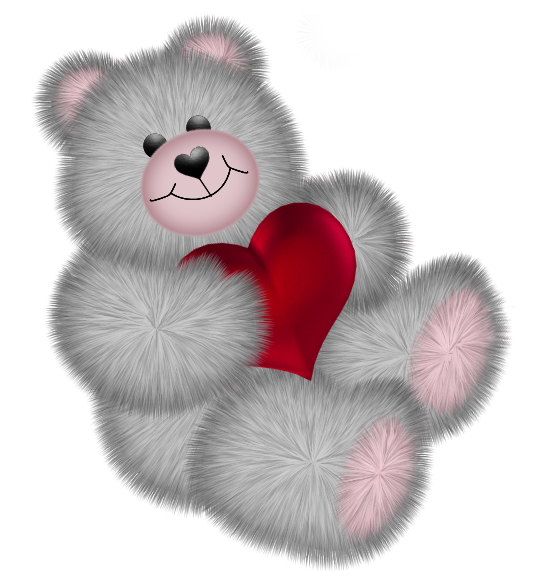 Clipart bear valentine's. Valentines day teddy with