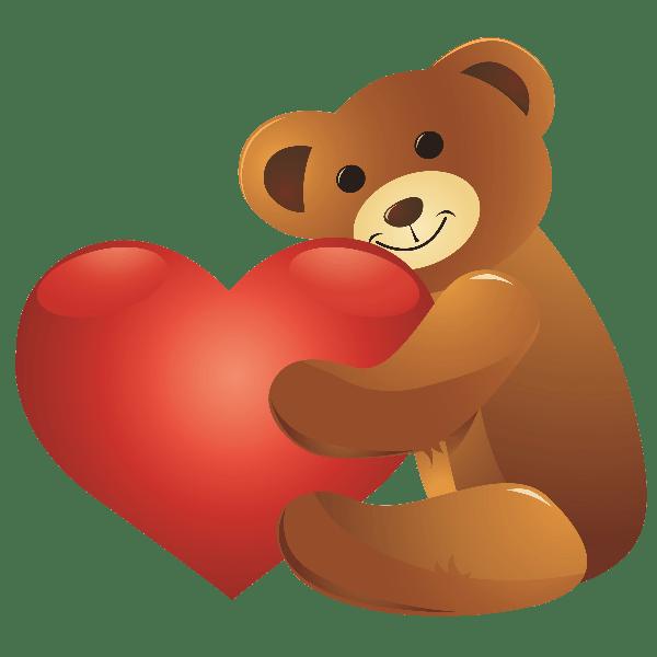 Valentines day teddy clip. Clipart bear valentine's
