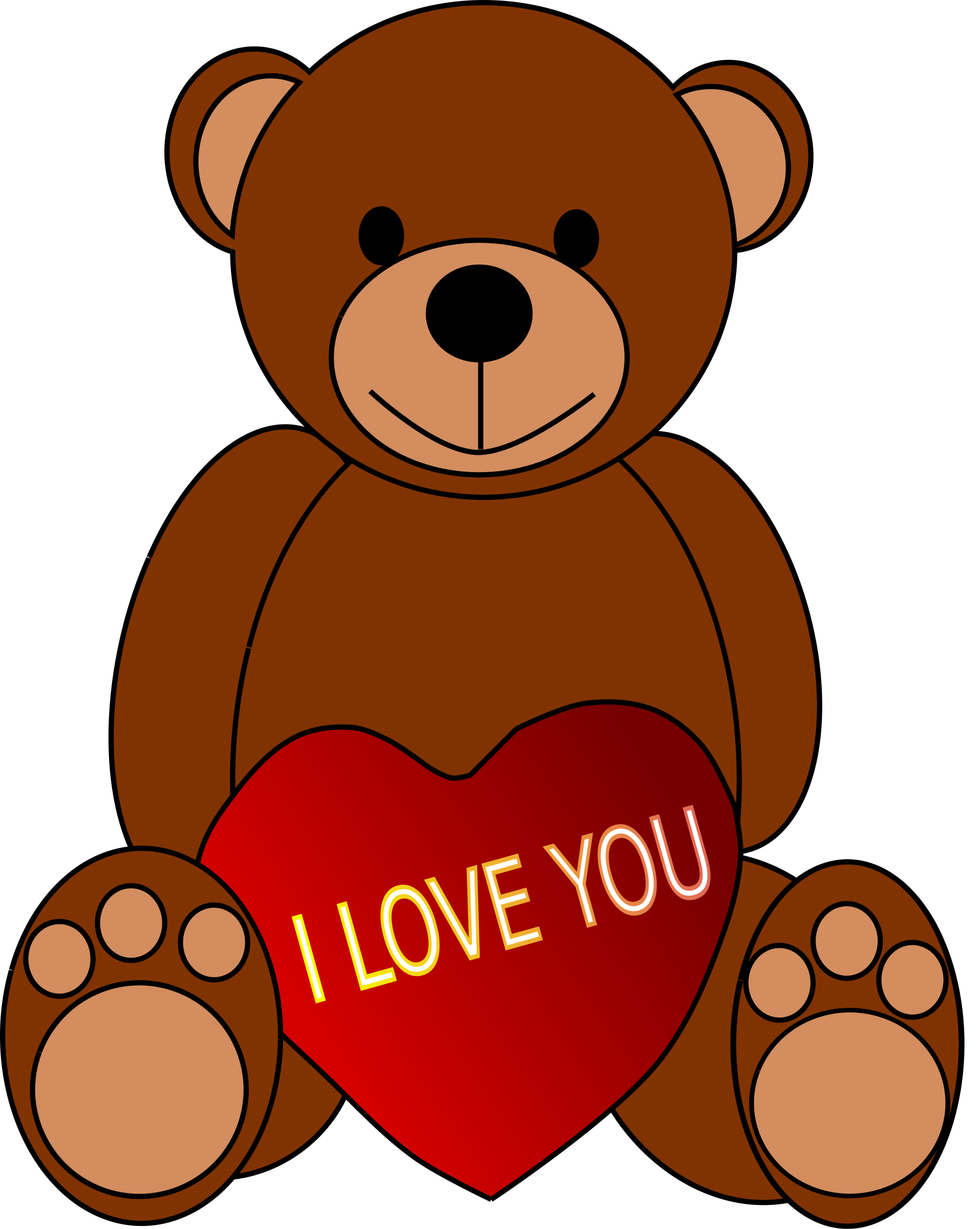 Valentine s day teddy. Clipart bear valentine's