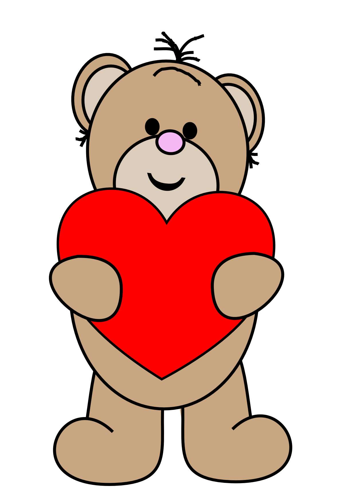 Valentine monkey at getdrawings. Clipart bear valentine's