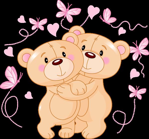 Valentine teddy bears with. Clipart bear valentine's