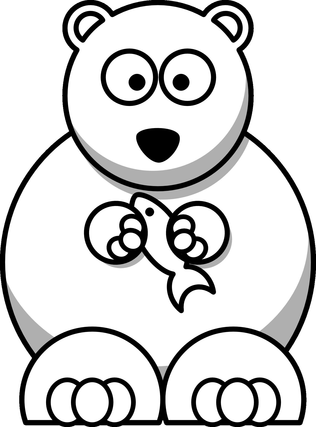 Hunter clipart cartoon bear. Cute polar drawing at