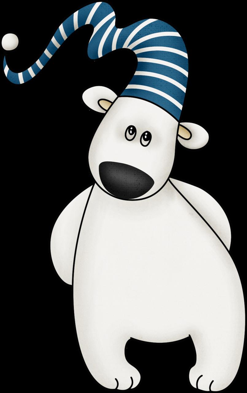 Mis laminas para decoupage. Holiday clipart polar bear