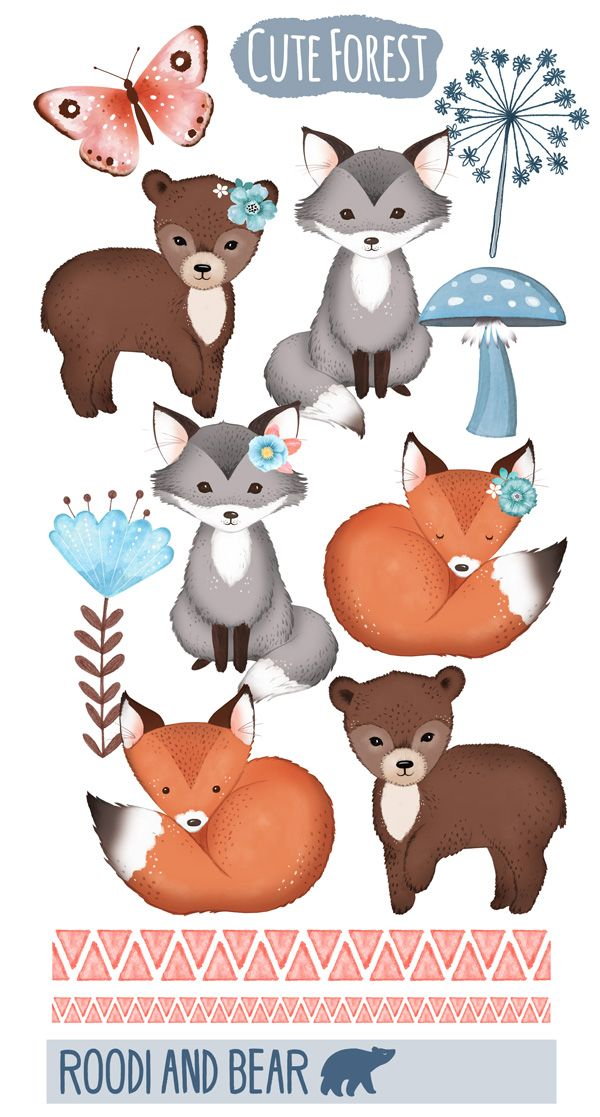 Bears foxes and a. Wolves clipart bear