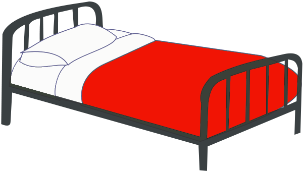 Bed clipart single. Clip art free panda