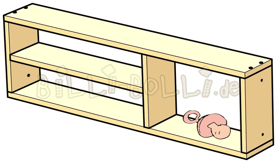 Shelves and racks billi. Clipart bed above