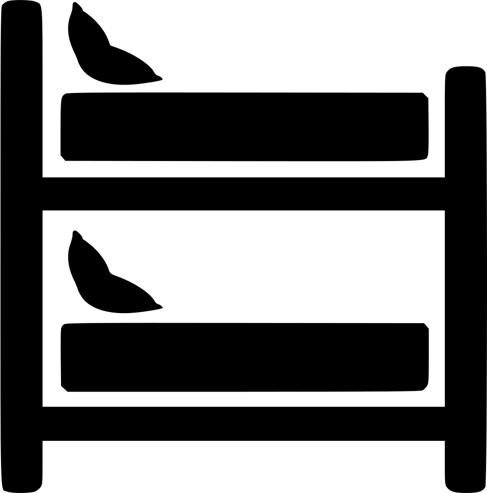 Clipart bed above. Bunk svg png icon