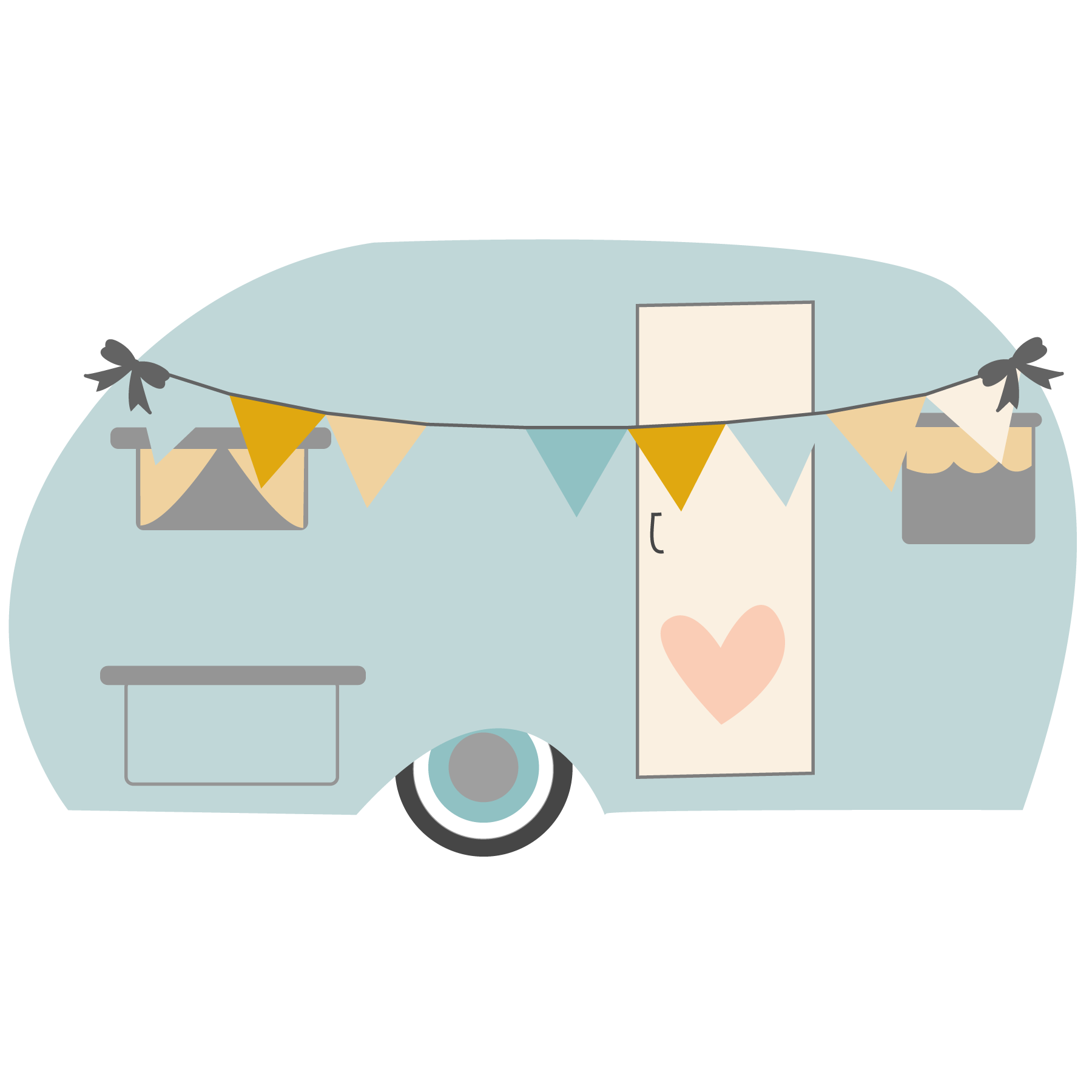 My new blog follow. Camper clipart girly
