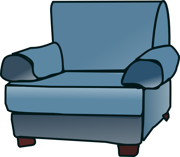 Clipart chair recliner. Furniture animated pencil and
