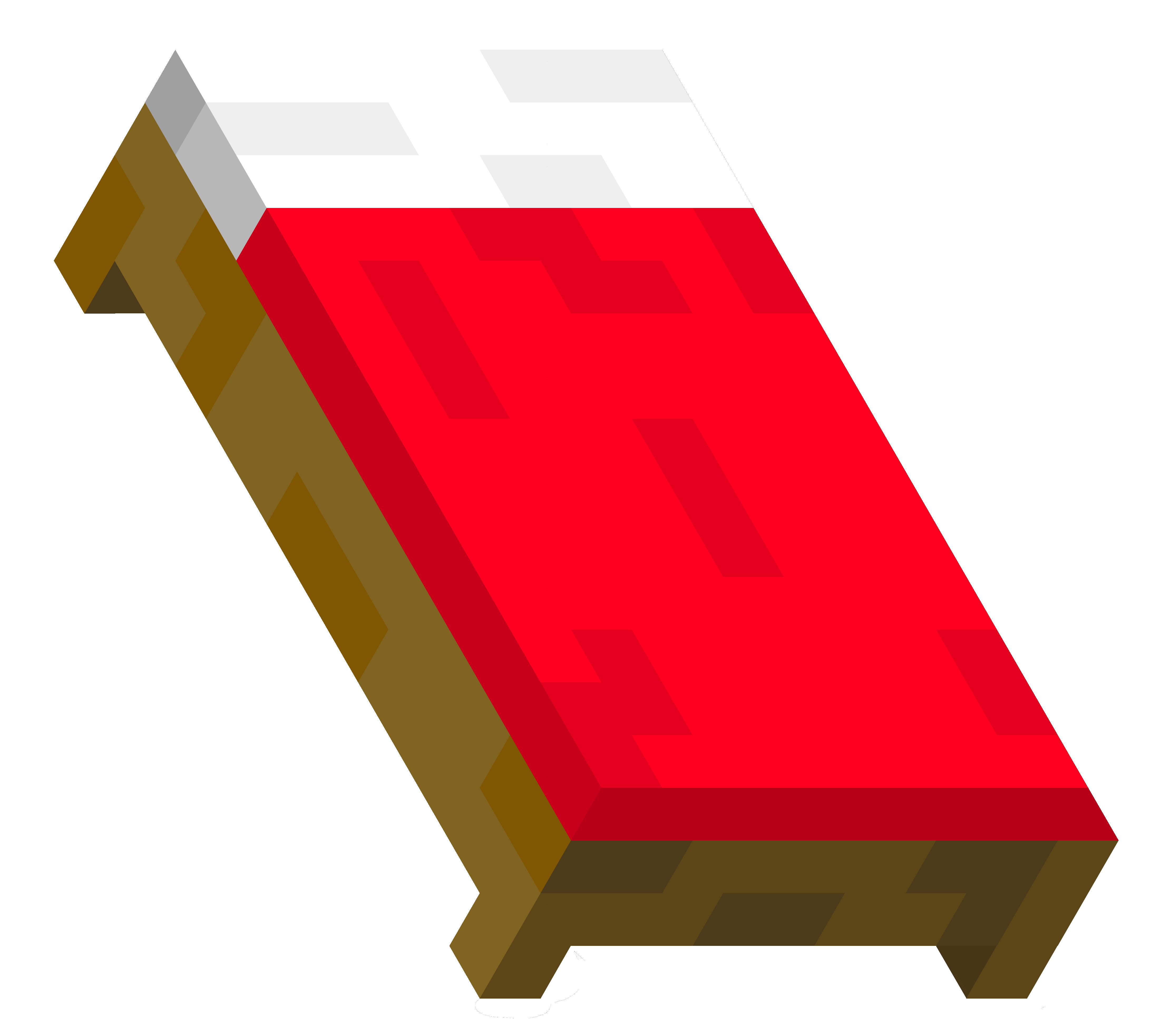 Minecraft png . Clipart bed animated