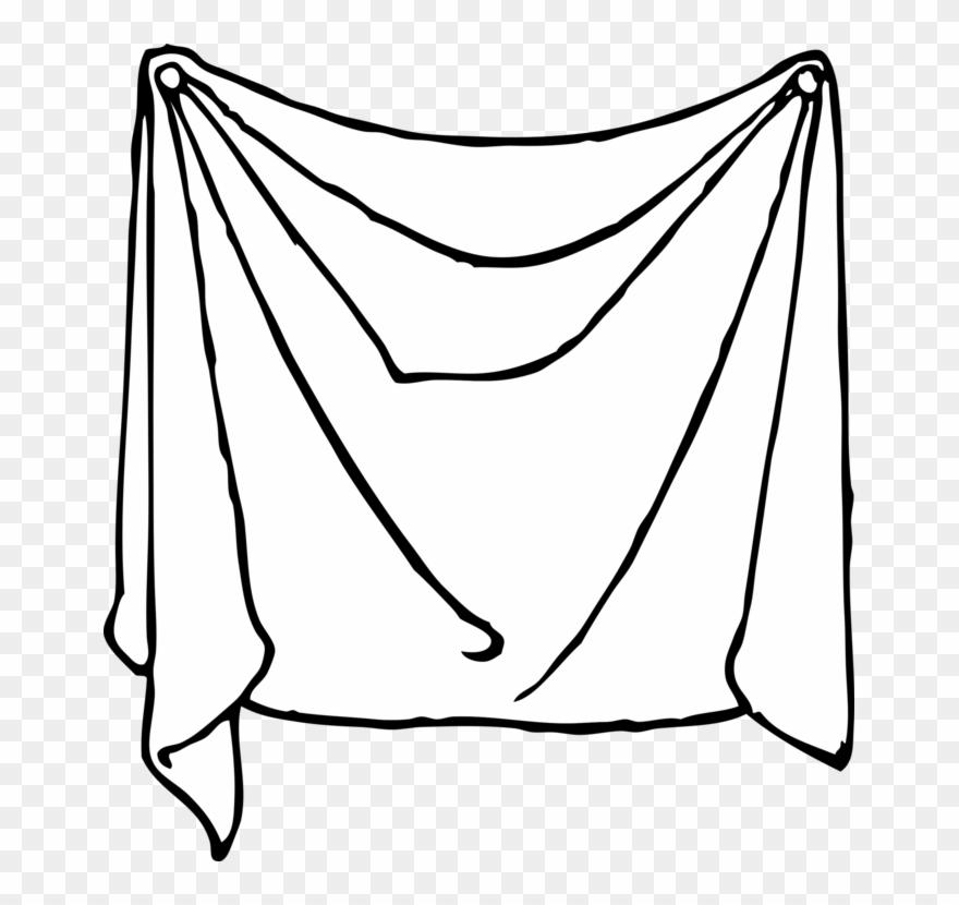 Sheets line art sheet. Clipart bed bed linen