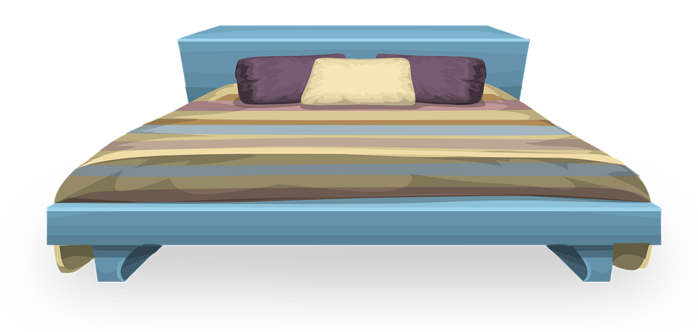 Furniture sticker challenge on. Clipart bed bed linen