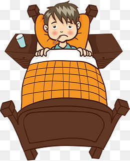 Sick weak on png. Clipart bed bed rest